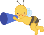 Bee with a megaphone